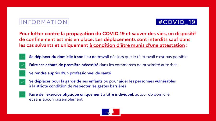COVID-19: ETAT D'URGENCE SANITAIRE - NOVEMBRE 2020  - CLIQUEZ ICI