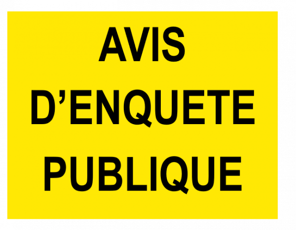 AVIS D'ENQUÊTE PUBLIQUE : TRAVAUX DE DERIVATION DES EAUX SOUTERRAINES POUR L'EXPLOITATION DES CAPTAGES DE