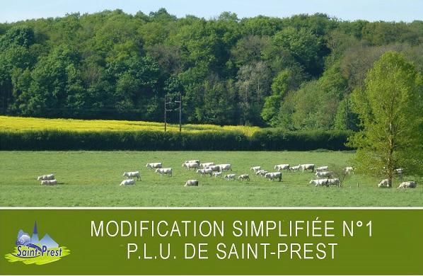 MODIFICATION SIMPLIFIÉE N°1 DU PLU DE SAINT-PREST : LANCEMENT DE LA PROCÉDURE