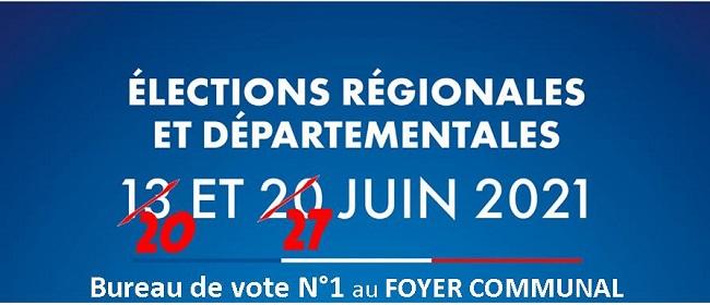 ELECTIONS 20 ET 27/06/2021
